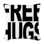 freehugs-blk Woven Throw Pillow