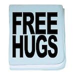 freehugs-blk baby blanket