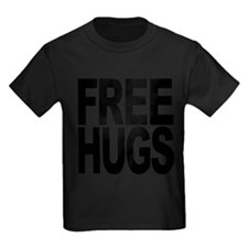freehugs-blk Kids Dark T-Shirt