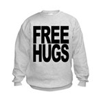freehugs-blk Kids Sweatshirt