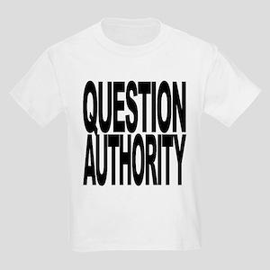 questionauthorityblockblk Kids Light T-Shirt