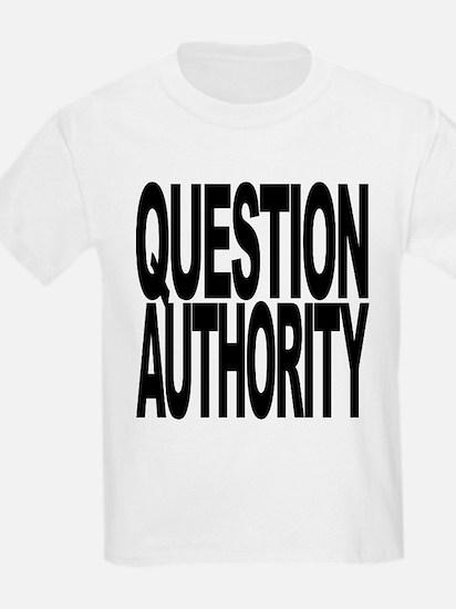 questionauthorityblockblk.png T-Shirt