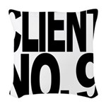 clientno9mssblk Woven Throw Pillow