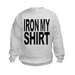 ironmyshirtblockblk Kids Sweatshirt