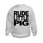 rudelittlepigblk Kids Sweatshirt