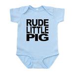 rudelittlepigblk Infant Bodysuit