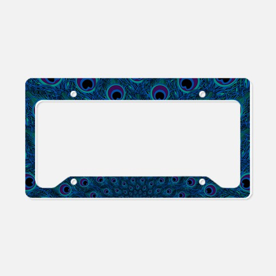 Peacock Feather Pattern License Plate Holder