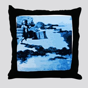 Vintage Amsterdam Tile Mural A5 Throw Pillow