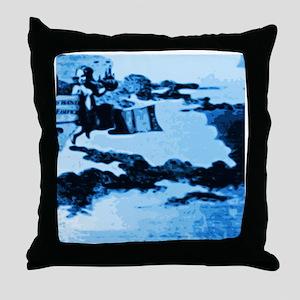 Vintage Amsterdam Tile Mural A5 Throw Pillow