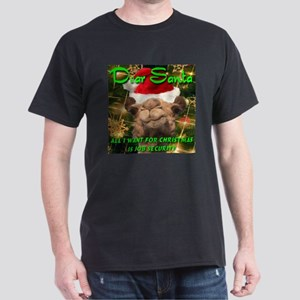 Dear Santa Hump Day Camel Job Security Dark T-Shir