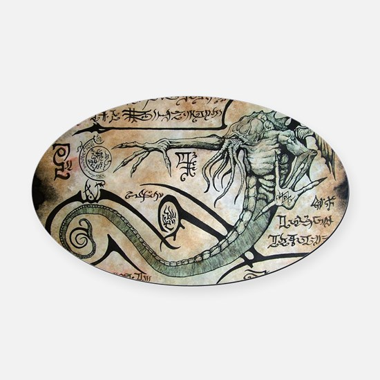 The Rituals of Cthulhu Oval Car Magnet
