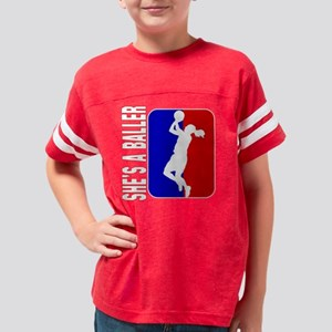 Shes A Baller Logo Youth Football Shirt