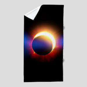 Solar Eclipse Beach Towel