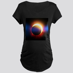 Solar Eclipse Maternity Dark T-Shirt
