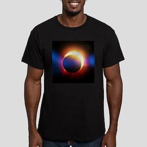 Solar Eclipse Men's Fitted T-Shirt (dark)