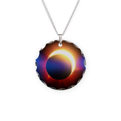 Solar Eclipse Necklace Circle Charm