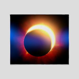 Solar Eclipse Throw Blanket