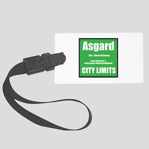 Asgard City Limits Large Luggage Tag
