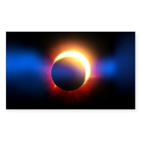 Solar Eclipse Sticker (Rectangle)