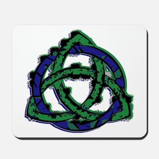 Abstract Triquetra Mousepad
