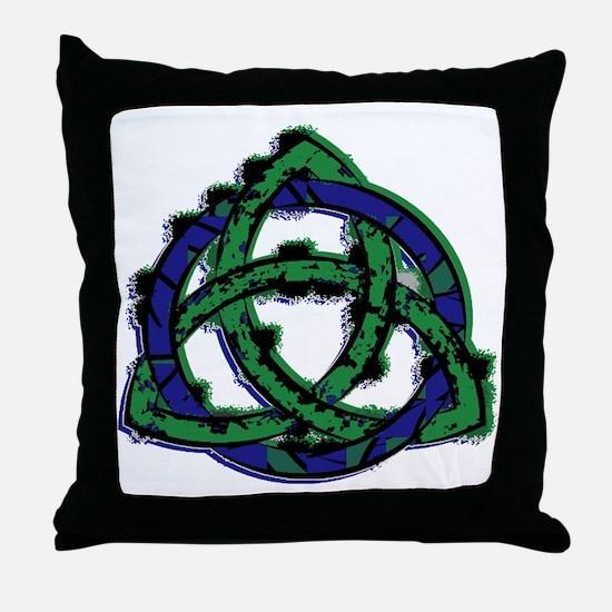 Abstract Triquetra Throw Pillow