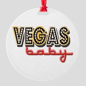 Vegas Baby Round Ornament