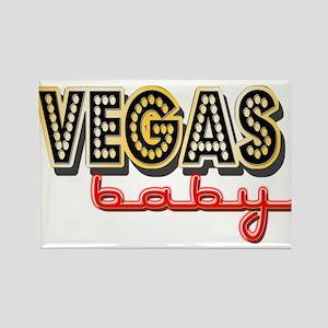 Vegas Baby Rectangle Magnet