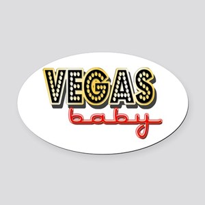Vegas Baby Oval Car Magnet