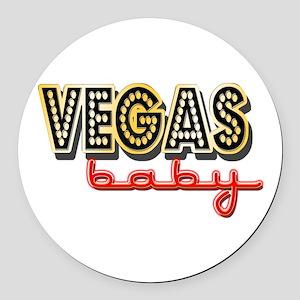 Vegas Baby Round Car Magnet