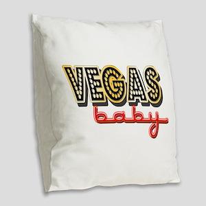 Vegas Baby Burlap Throw Pillow