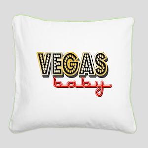 Vegas Baby Square Canvas Pillow