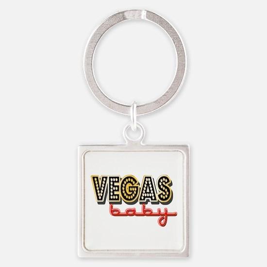 Vegas Baby Square Keychain