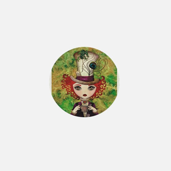 Lady Hatter Mini Button