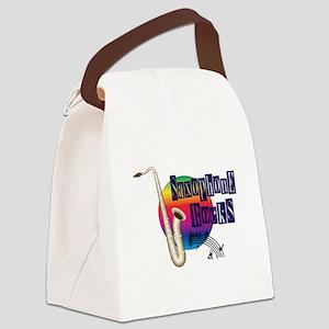 Saxophone Rocks Canvas Lunch Bag