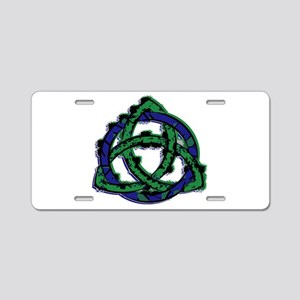 Abstract Triquetra Aluminum License Plate