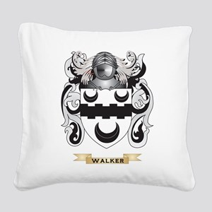 Walker Family Crest (Coat of Arms) Square Canvas P