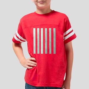Mint Stripes Youth Football Shirt