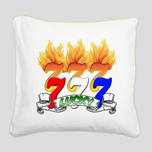 Lucky Sevens Square Canvas Pillow