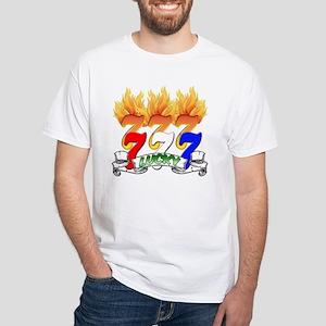 Lucky Sevens White T-Shirt