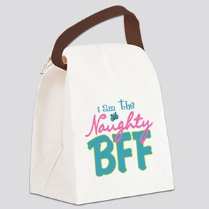 I am the naughty BFF Canvas Lunch Bag