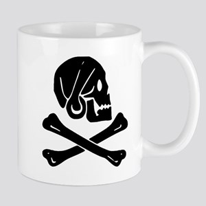 Henry Every Jolly Roger:Pirate Flag Black Mugs