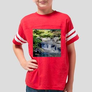 Japanese Garden Waterfall and Youth Football Shirt