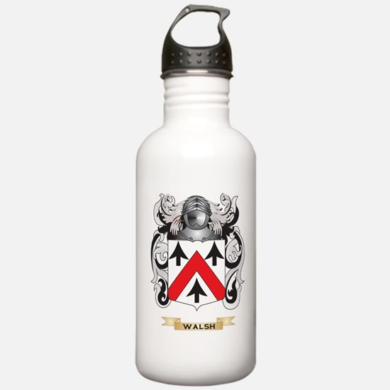 Walsh Family Crest (Coat of Arms) Water Bottle