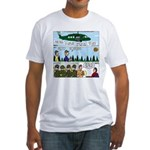 Helicopter - Tent - Drill Team Fitted T-Shirt