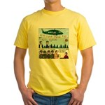 Helicopter - Tent - Drill Team Yellow T-Shirt