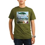 Helicopter - Tent - Drill Team Organic Men's T-Shi