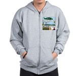 Helicopter - Tent - Drill Team Zip Hoodie
