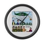 Helicopter - Tent - Drill Team Large Wall Clock