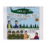 Helicopter - Tent - Drill Team Throw Blanket