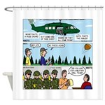 Helicopter - Tent - Drill Team Shower Curtain